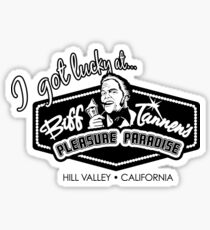 Back to the Future Biff Tannen's Pleasure Paradise Sticker