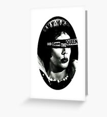 God Save the Queen Frank-N-Furter Greeting Card