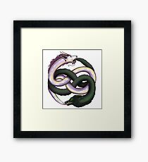 Wolf and dragon Framed Print