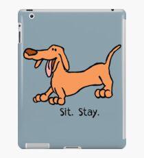 Sit Stay Daft Dachshund Sausage Weiner Dog iPad Case/Skin