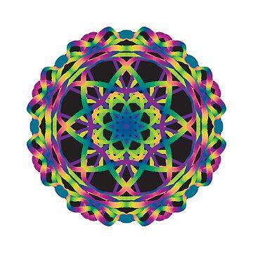 Neon-Mandala von divinefemme