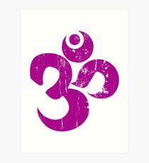 Hindu Om Ohm Symbol Art Print