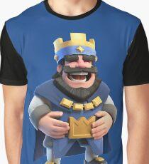 Roi Bleu ! Clash Royal Fan Graphic T-Shirt