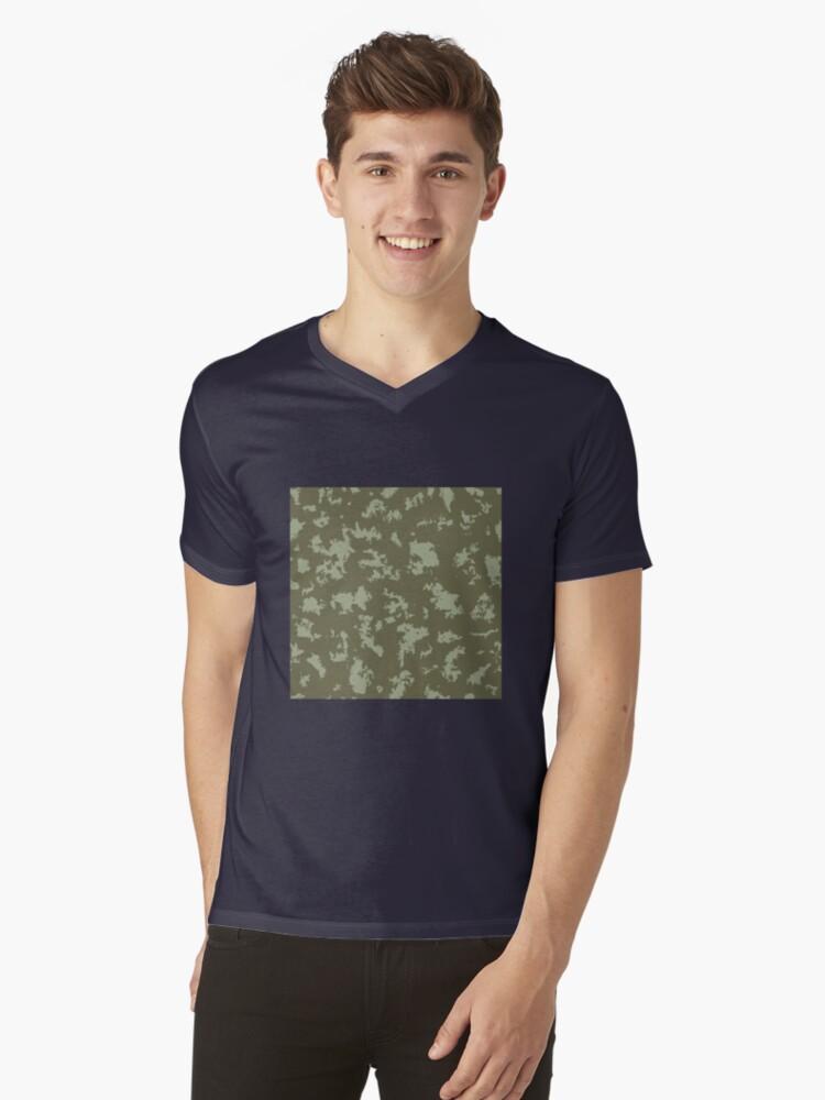 Grunge pattern Mens V-Neck T-Shirt Front