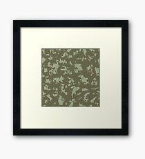 Grunge pattern Framed Print