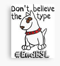 Don't Believe the Type #endBSL End Breed Specific Legislation Metal Print