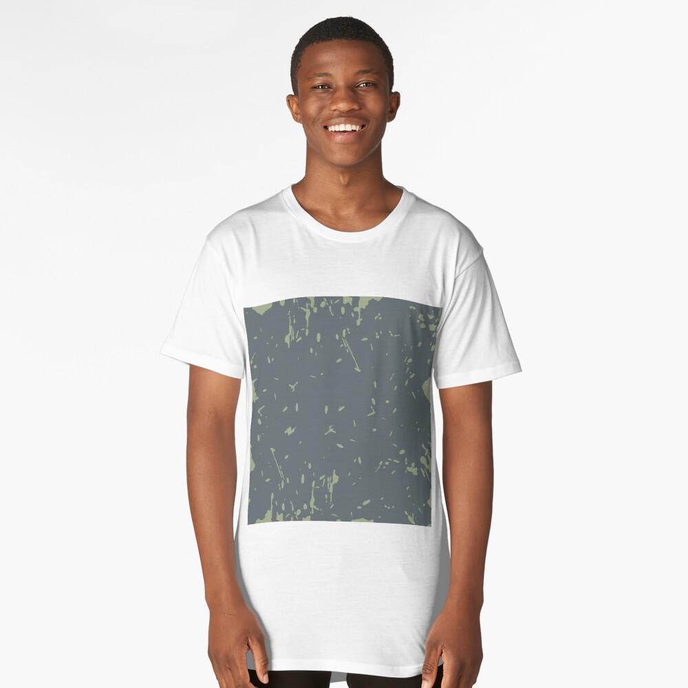 Grunge pattern Long T-Shirt Front
