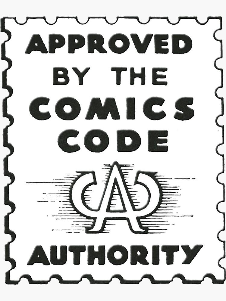 Comics Code Authority Seal Superhero by 16TonPress