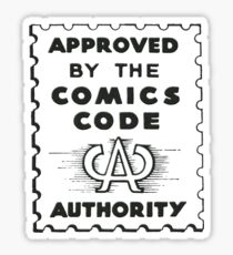 Comics Code Authority Siegel Superhero Sticker