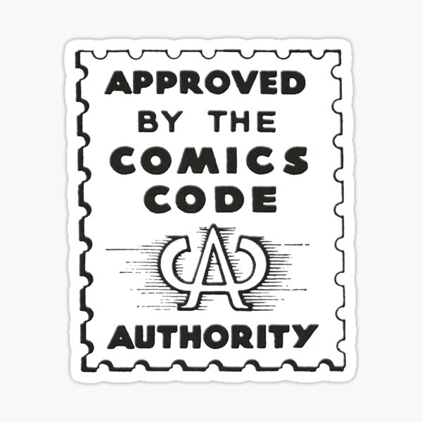 Comics Code Authority Seal Superhero Pegatina