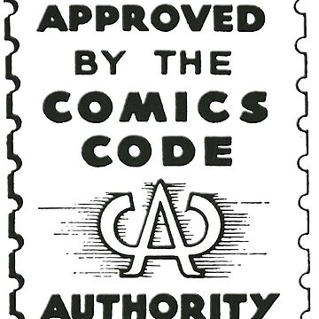 Comics Code Authority Seal Superhero by 16TonPress