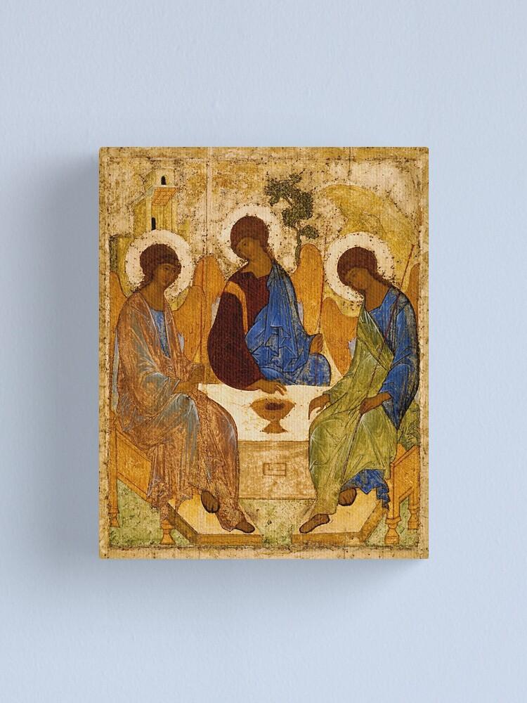 Vista alternativa de Lienzo Pintura de la Santísima Trinidad Rublev Trinity Print Icon Arte de la pared religiosa cristiana