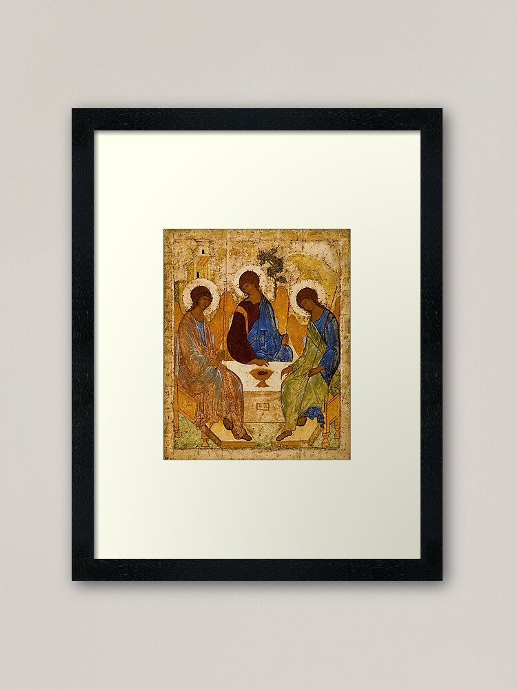 Alternate view of Holy Trinity Painting Rublev Trinity Print Icon Christian Religious Wall art Framed Art Print