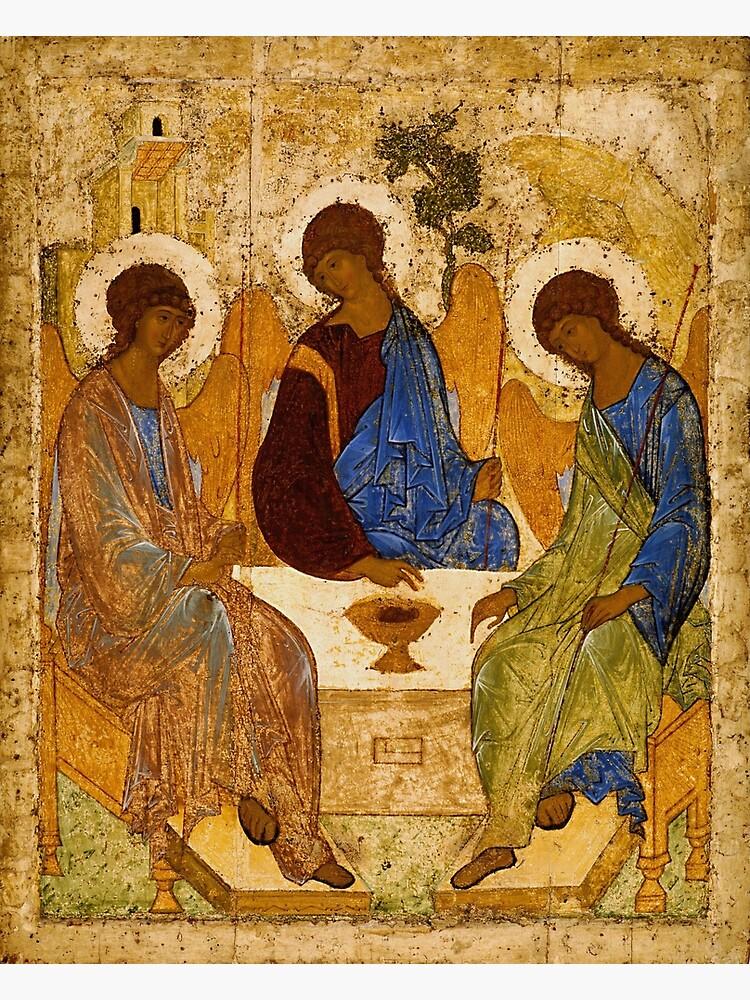 Pintura de la Santísima Trinidad Rublev Trinity Print Icon Arte de la pared religiosa cristiana de tanabe