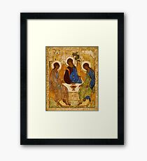 Holy Trinity Painting Rublev Trinity Print Icon Christian Religious Wall art Framed Print