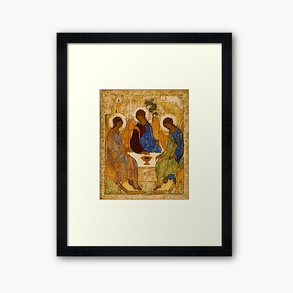 Holy Trinity Painting Rublev Trinity Print Icon Christian Religious Wall art Framed Art Print