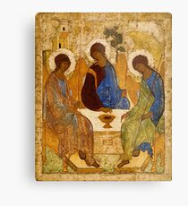 Holy Trinity Painting Rublev Trinity Print Icon Christian Religious Wall art Metal Print
