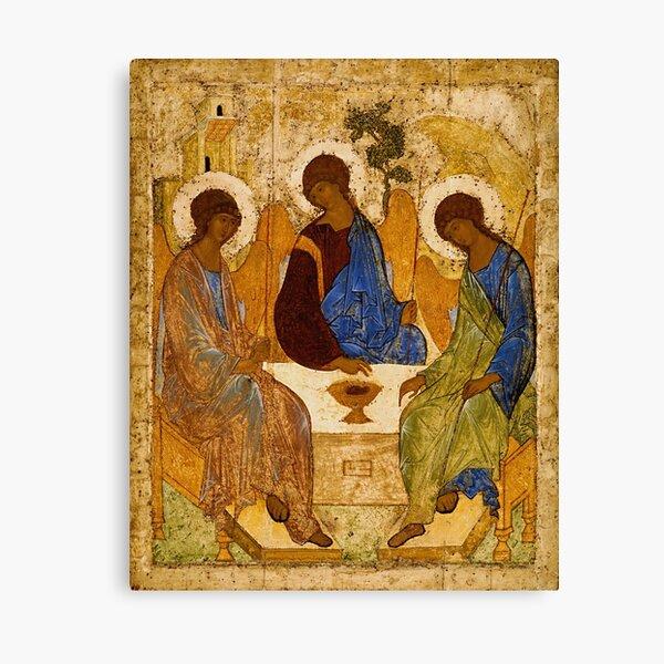 Holy Trinity Painting Rublev Trinity Print Icon Christian Religious Wall art Canvas Print