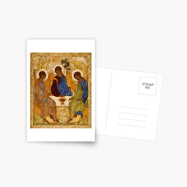 Holy Trinity Painting Rublev Trinity Print Icon Christian Religious Wall art Postcard
