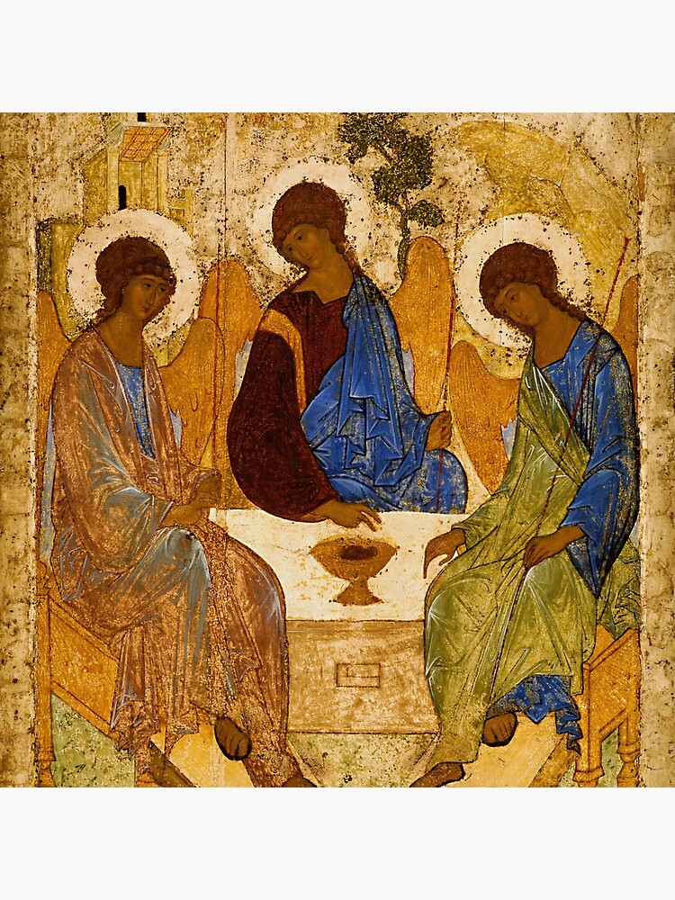 Holy Trinity Painting Rublev Trinity Print Icon Christian Religious Wall art by tanabe