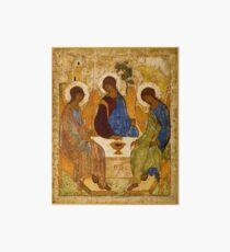Lámina rígida Holy Trinity Painting Rublev Trinity Imprimir icono Christian Religious Wall art