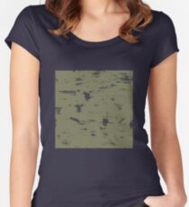 Grunge pattern Women's Fitted Scoop T-Shirt