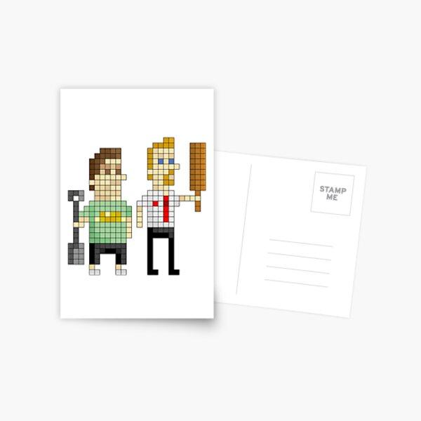 Shaun of the Dead - Pixel Art Postcard