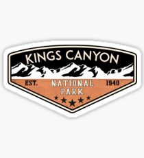 KINGS CANYON NATIONAL PARK CALIFORNIA MOUNTAINS HIKE HIKING CAMP CAMPING NATURE 1940 Sticker