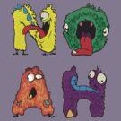 NOAH - My Little Monsters Kids t-shirt by bengrimshaw