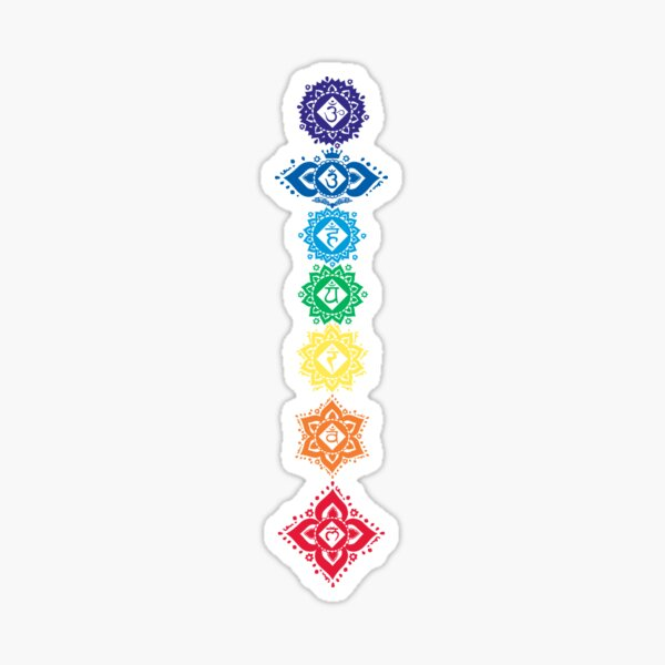 7 Floral Chakra SYmbols Sticker