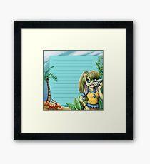 summer stationary sheet Framed Print