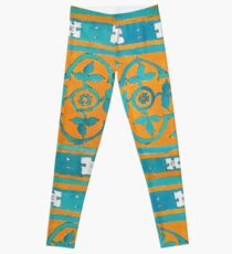 Lisbo-mania tile design  Leggings