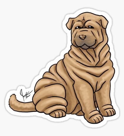 Chinese Shar Pei Glossy Sticker