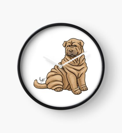 Chinese Shar Pei Clock