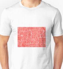 Beijing Map - Red T-Shirt