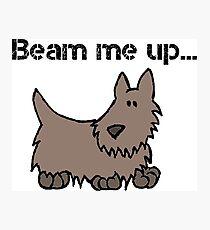 Beam Me Up Scotty Dog Cartoon Photographic Print