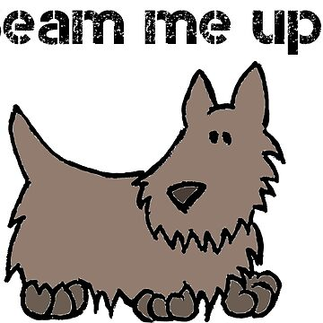 Beam Me Up Scotty Dog Cartoon by MoPaws