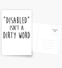 Disabled isn't a dirty word Postcards