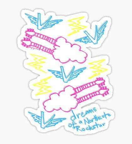 'Dreams of a Northcote Rockstar' Sticker