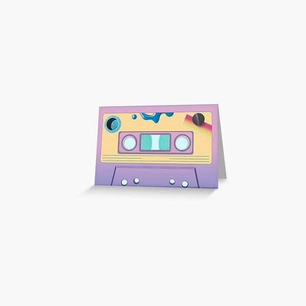 After Laughter Cassette Greeting Card