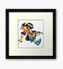 Splatoon 2 Yellow Inkling  Framed Print