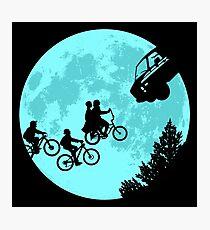 Stranger Kids Moon by zerobriant Photographic Print