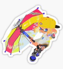 Splatoon 2 Yellow Inkling  Sticker