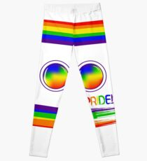 Pride. LGBT. Rainbow.  Symbol for gay and lesbian parade. Round glasses Leggings