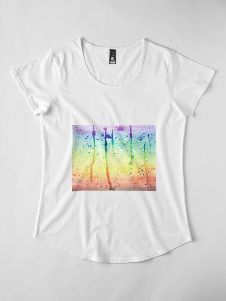 Alternate view of Pride Paint 2017 Premium Scoop T-Shirt