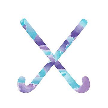Feldhockey Aquarell von mschmidtdesigns