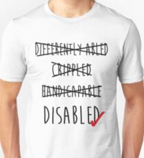Disabled is fine. T-Shirt