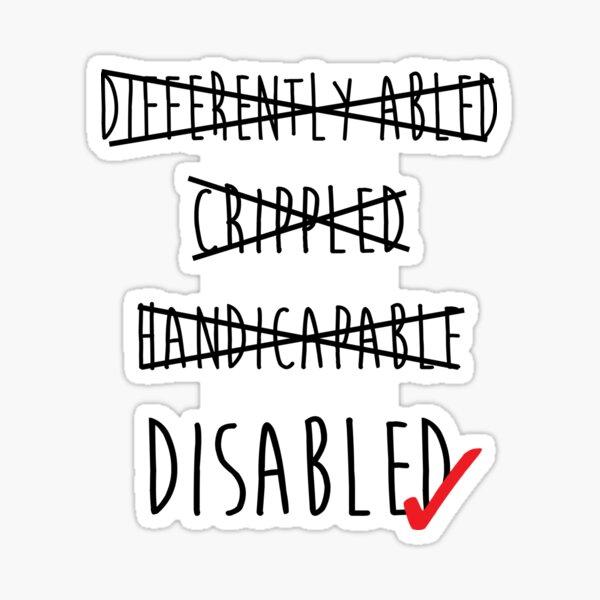 Disabled is fine. Sticker