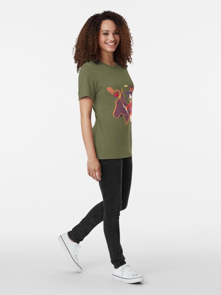 Vista alternativa de Camiseta de tejido mixto Megumin minimalista
