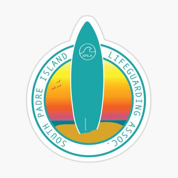 SPILA Surfboard in Color Two by Heliophilia Sticker